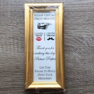 Other - 🆕🦩3/$20 NWT Photo booth Gold Frames
